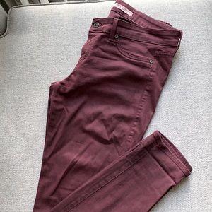 Rich & Skinny burgundy jeans